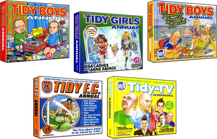 CD cover illustrations - Tidy Trax