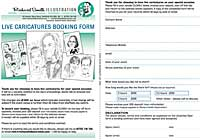Event caricatures order form